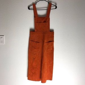 Free People Suede Apron Dress